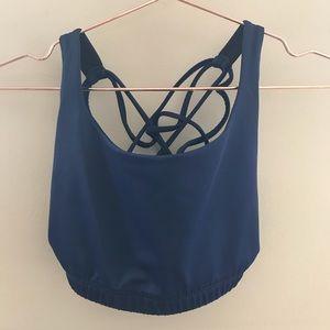 Onzie Navy Blue Crisscross Sports Bra Size S/M